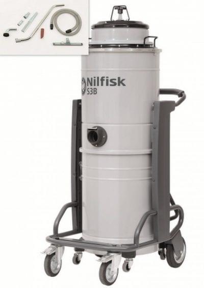 Nilfisk S3B L 100 egyfázisú ipari por- és vízszívó csomag 1