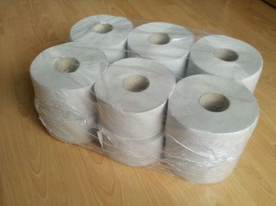 WC papír, MINI, 1 rétegű, natúr, PRÉMIUM, 12 tek/cs 1